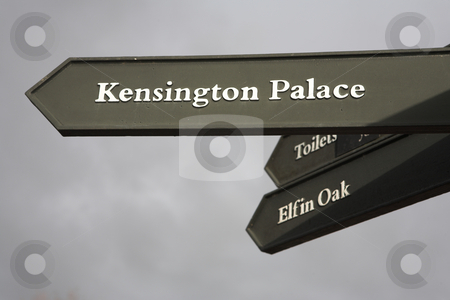 Signs #1 stock photo, Signpost to Kensington Palace by Sean Nel