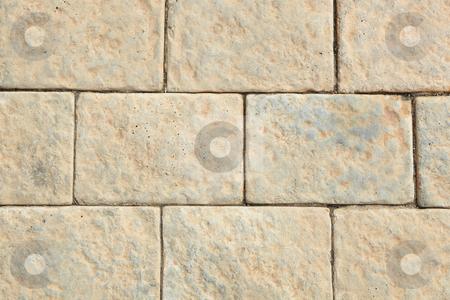 Pavement bricks background stock photo, Brown pavement bricks background by Sean Nel
