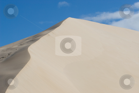 Dunes #8 stock photo, Sand Dunes and Blue Sky by Sean Nel