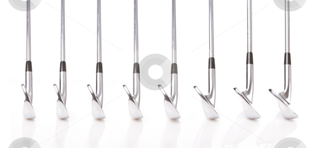 Golf Clubs #1 stock photo, Set of Professional Golf Clubs from a 3-iron to a Pitching Wedge  by Sean Nel