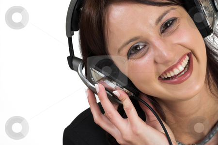 Music #1 stock photo, Woman with earphones by Sean Nel