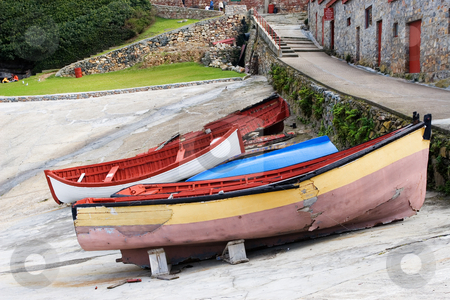 Harbour #4 stock photo, Derelict boats on Hermanus Harbour, South Africa by Sean Nel