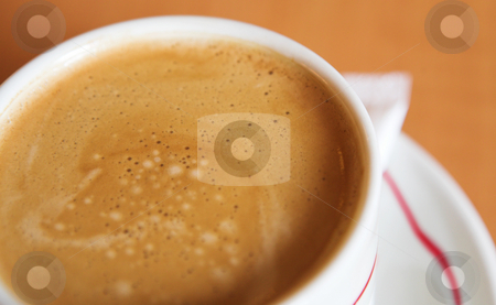 Coffee Cup #13 stock photo, Creamy Coffee in white cup and brown background - Shallow DOF by Sean Nel
