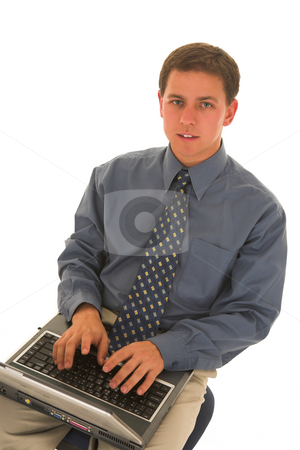 Businessman #75 stock photo, Man working on laptop. by Sean Nel