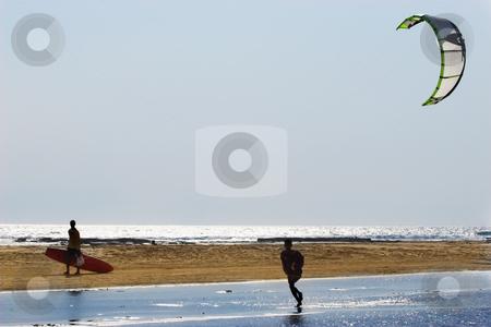 Sudwana #15 stock photo, People walking on a beach in Sudwana, South Africa. by Sean Nel