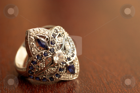 Jewelry #3 stock photo, Jewel encrusted wedding ring by Sean Nel