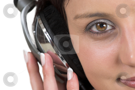 Luzaan Roodt #9 stock photo, Close-up of woman with headset on her head - shallow DOF by Sean Nel