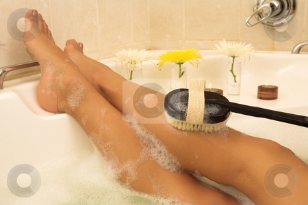 Woman #76 stock photo, Nude woman in a bath. by Sean Nel