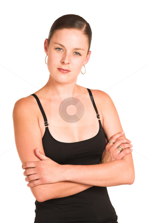 Business Woman#43 stock photo, Business woman dressed in black top. by Sean Nel