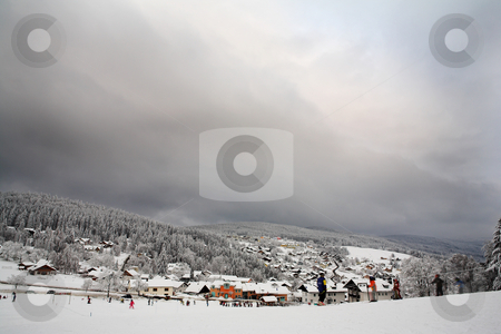 Snow Landscape #7 stock photo, Ski Resort in Kirchberg by Sean Nel