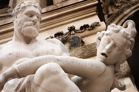 Vienna #30 stock photo, The statues of Hercules outside the Hoffberg Palace by Sean Nel