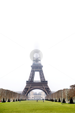 Paris #25 stock photo, The Eiffel Tower in Paris, France. Copy space. by Sean Nel