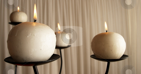 Candles #5 stock photo, Candles in the front of a wedding chapel by Sean Nel