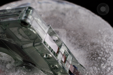 Ice and Tape #6 stock photo, Old tape frozen -shallow depth of field by Sean Nel