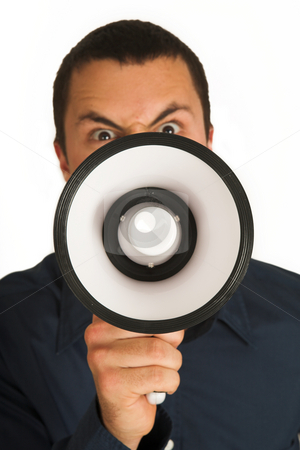 Franscoisbooysen #175 stock photo, Man with Megaphone  by Sean Nel
