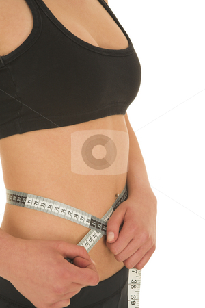 Gymbunny #36 stock photo, Woman with measuring tape by Sean Nel