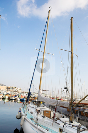 Cannes #50 stock photo, Yachts in the the harbor (Port Le Vieux) in Cannes, France. by Sean Nel