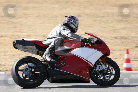 Superbike #73 stock photo, High speed Superbike on the circuit  by Sean Nel