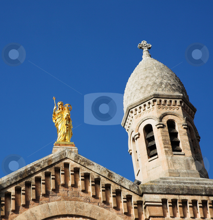 StRaphael #19 stock photo, The Victoire de Lepante Cathedral in Victory Square, St Raphael, France by Sean Nel
