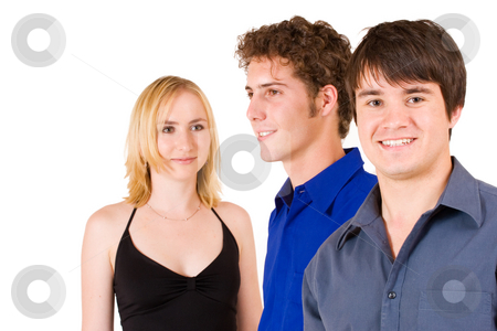 Business People #18 stock photo, Three business partners: one woman and to men by Sean Nel