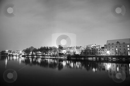 Regensburg#47 stock photo, Night scene, lights and buildings in Regensburg by Sean Nel