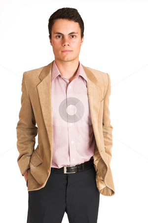 Businessman #121 stock photo, Businessman standing with hands in his pocket.   Portrait. by Sean Nel
