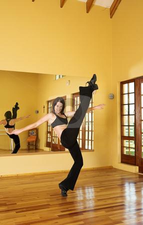 Dancer #26 stock photo, A Female Dancer practicing in her studio by Sean Nel