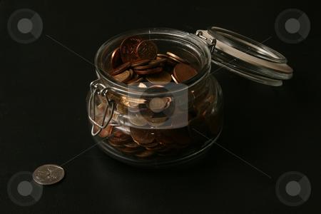 Bottle bank stock photo, Money in a bottle by Sean Nel