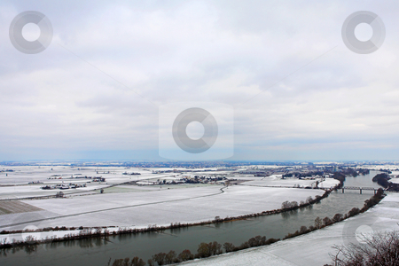 Kirchberg #16 stock photo, Landscape of Donau river in Kirchberg, Germany.  Copy space. by Sean Nel