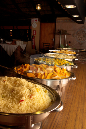 Food #18 stock photo, Buffet line at a wedding reception by Sean Nel