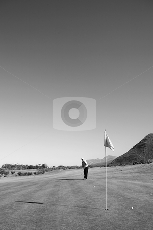Golfer #43 stock photo, A male playing golf. by Sean Nel