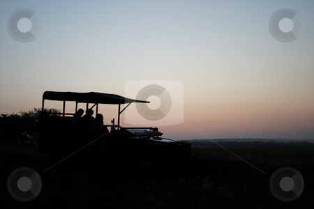 Sunrise on safari stock photo, Sunrise on a hunting safari by Sean Nel