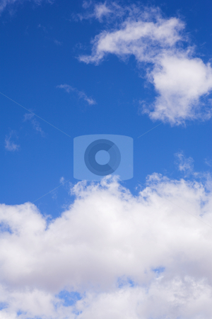 Blue Sky and Clouds #2 stock photo, Blue sky and white puffy clouds - For use as fill in backgrounds in designs and photo retouching by Sean Nel