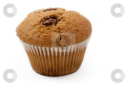 Food #15 stock photo, A single Caramel Chip muffin on a white background - Perfect shape by Sean Nel