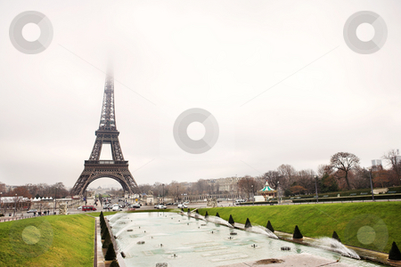 Paris #35 stock photo, The Eiffel Tower in Paris, France. Copy space. by Sean Nel