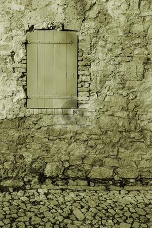 Isledemarguerite #25 stock photo, An old locked window in the famous Ile Sainte Marguerite  by Sean Nel