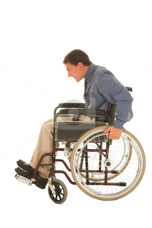 Businessman #124 stock photo, Man in wheelchair. by Sean Nel