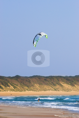 Sudwana #9 stock photo, A person kite surfing in Sudwana. by Sean Nel