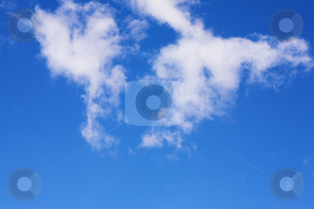 Blue Sky and Clouds #6 stock photo, Blue sky and white puffy clouds - For use as fill in backgrounds in designs and photo retouching by Sean Nel