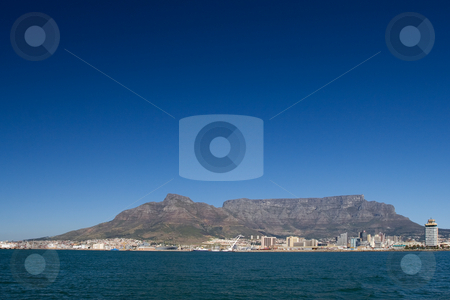 Mountain #2 stock photo, Table mountain and the VA waterfornt - Cape Town, South Africa by Sean Nel
