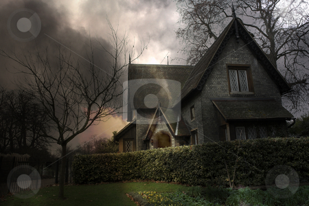 Haunted House #3 stock photo, Haunted house in London by Sean Nel