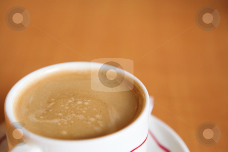 Coffee Cup #14 stock photo, Creamy Coffee in white cup and brown background - Shallow DOF by Sean Nel