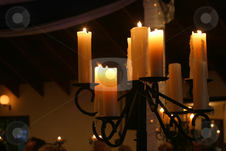 Wedding Candles too stock photo, Soft Candle light at a wedding celebration by Sean Nel