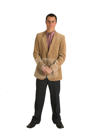 Businessman #189 stock photo, Businessman in a pink shirt and camel coloured jacket, by Sean Nel