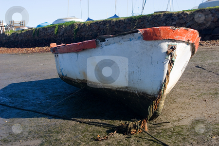 Boat #4 stock photo, Derelict boat next to the water - Knysna Harbour, South Africa by Sean Nel
