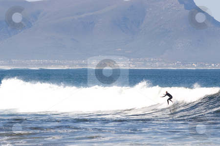 Surfer #7 stock photo, Unknown Surfer on Kleinmond beach - South Africa by Sean Nel