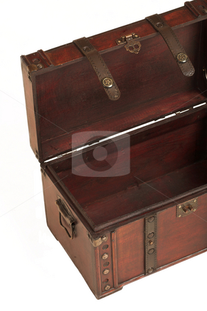 Suitcase#003 stock photo, Open treasure case on white background by Sean Nel