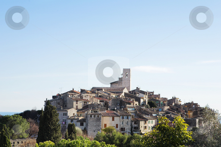 St Paul #34 stock photo, The small hilltop town of St Paul,  France by Sean Nel