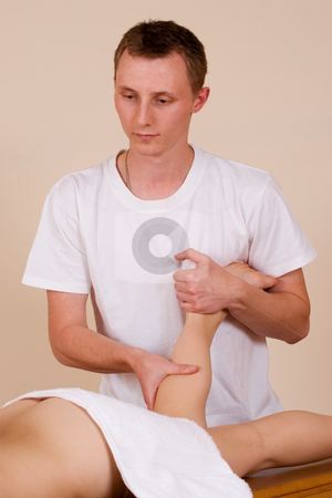Trudy Lee & Tommy #13 stock photo, Beautician working on a person by Sean Nel