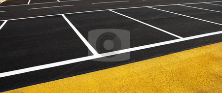 Antibes #182 stock photo, A newly painted parking lot.  Copy space. by Sean Nel